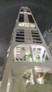 Romain E's condo, from near at night, found with a top expat Property Agent from Propseller