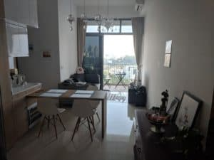 Raphael's living room in the studio at Outram Park found with a top expat Property Agent from Propseller