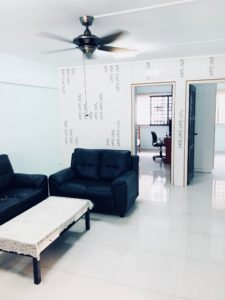Singaporean landlord Elango's living room in HDB which was rented out by a top Property Agent from Propseller