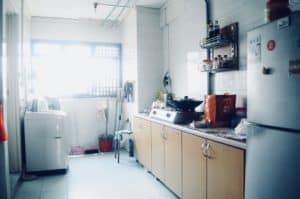 Singaporean seller Ricky C's kitchen in HDB which was sold by a top Property Agent from Propseller