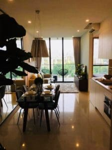 Foreigner Jiawei W's living room in Condo which was purchased with a top Property Agent from Propseller