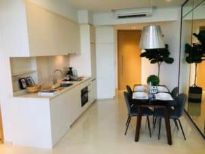 Foreigner Jiawei W's kitchen in Condo which was purchased with a top Property Agent from Propseller