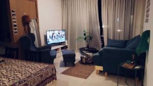 Chin Lee's living room in condo that was rented out by a top Property Agent from Propseller
