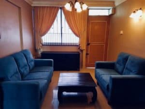 Karen N's living room in HDB that was sold by a top Property Agent from Propseller