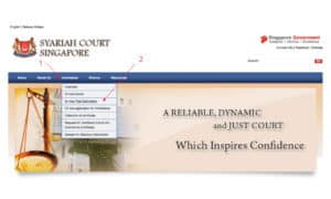 Syariah Court Singapore's Website - For Inheritance Distribution Calculation