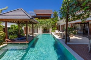 The villa comes with its own large private pool ensuite