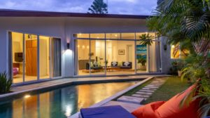 Villa opens up to private pool area