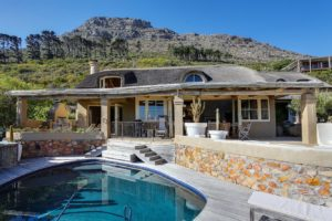 Estate includes both living area, outdoor spaces and private pool