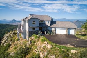 The home boasts an amazing view from a hilltop