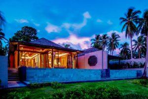 Beautiful villa at night