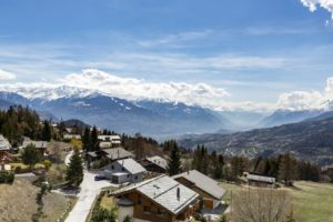 Residence boasts a magnificent view of the nearby alps